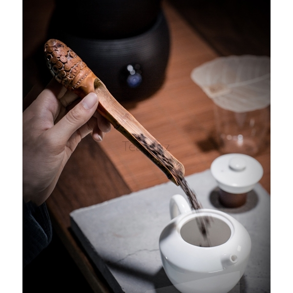 Knotted Bamboo Root Tea Scoop