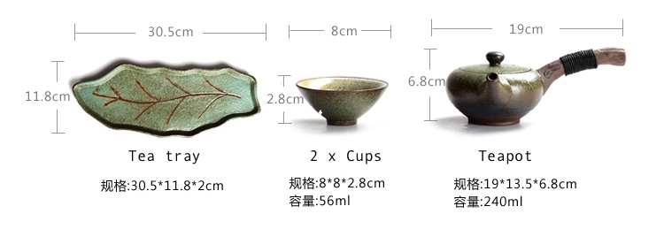 ceramic tea set leaf tray